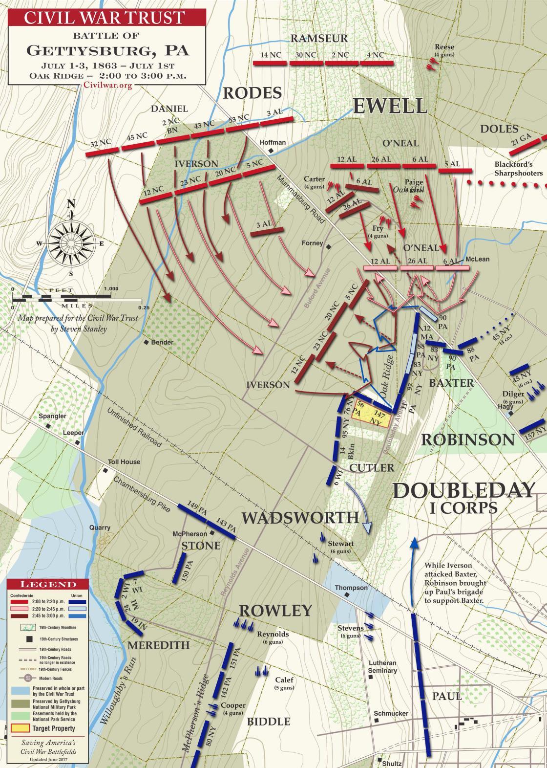 Gettysburg: Oak Ridge, July 1, 1863, 2:00-3:00pm