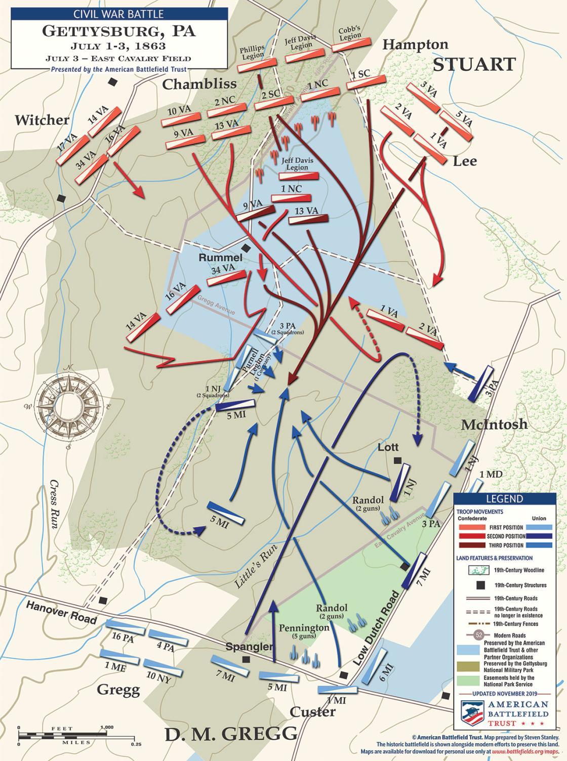 Gettysburg - East Cavalry Field - July 3, 1863 (November 2019)