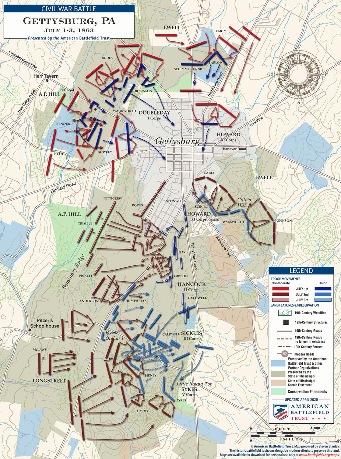Gettysburg - July 1 to 3, 1863 (April 2020)