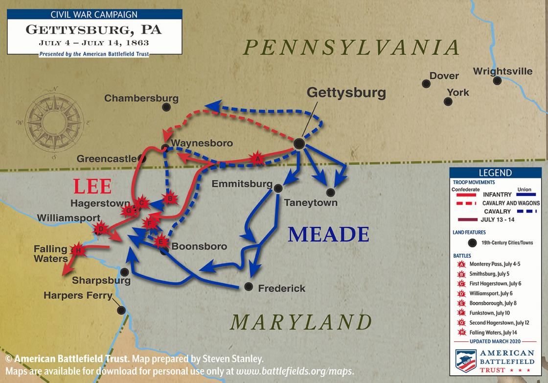 Gettysburg Campaign - July 4 to July 14, 1863 (March 2020)