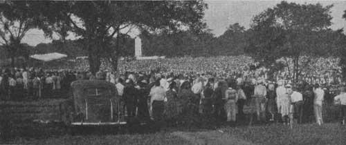 Gettysburg Dedication 1938 Eternal Light Memorial Gettysburg