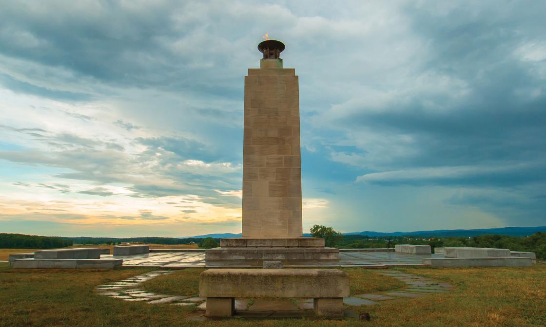 Eternal Peace Light Memorial at Gettysburg by Robert Roys