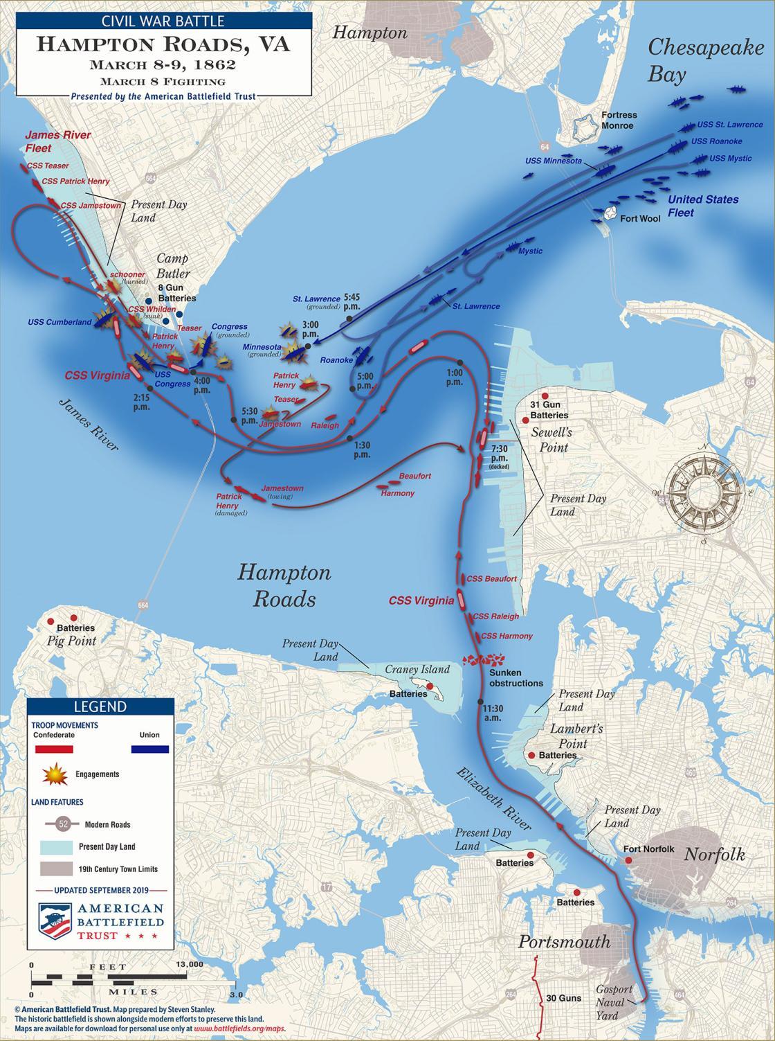 Hampton Roads - March 8, 1862 (September 2019)