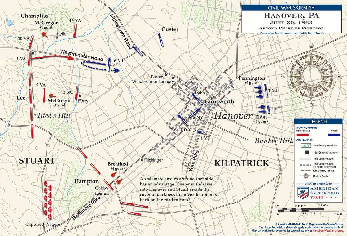 Hanover - Second Phase of Fighting - June 30, 1863 (March 2020)