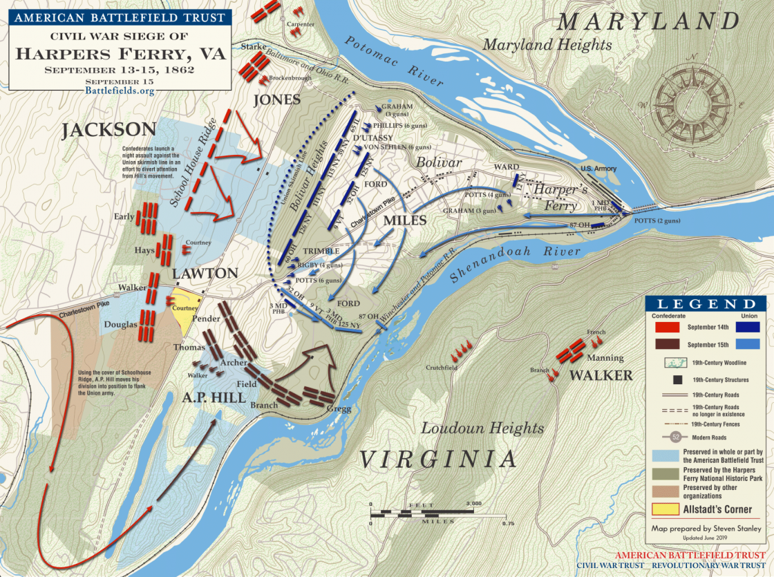 Harpers Ferry--Sept 12-15 1862 (June 2019)