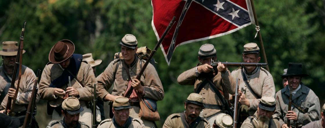 Hart Confederate Reenactors at Antietam Landscape