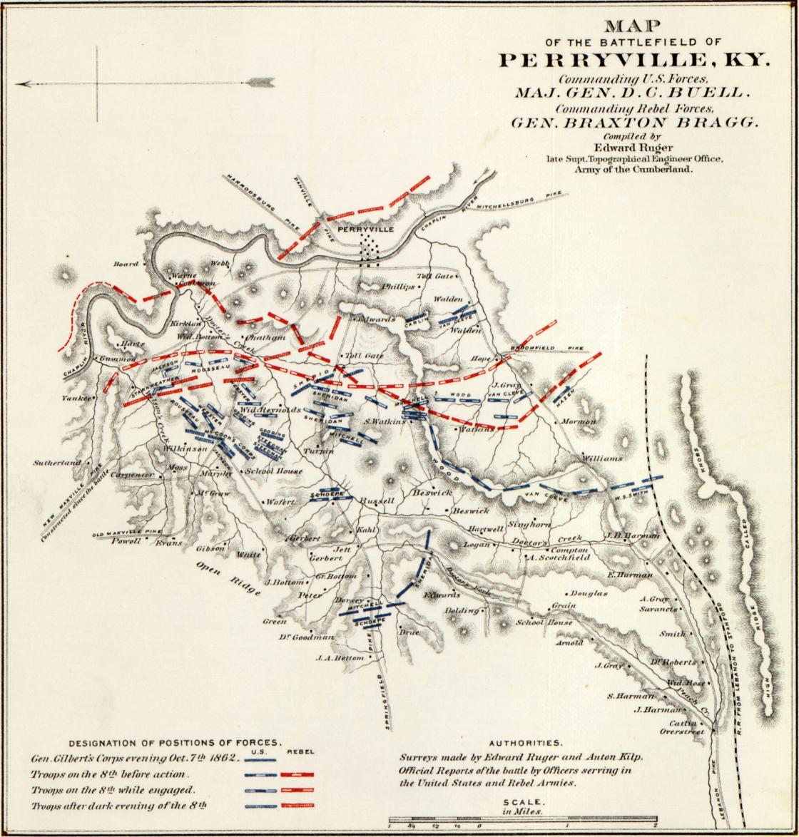 Historical Map of the Battle of Perryville