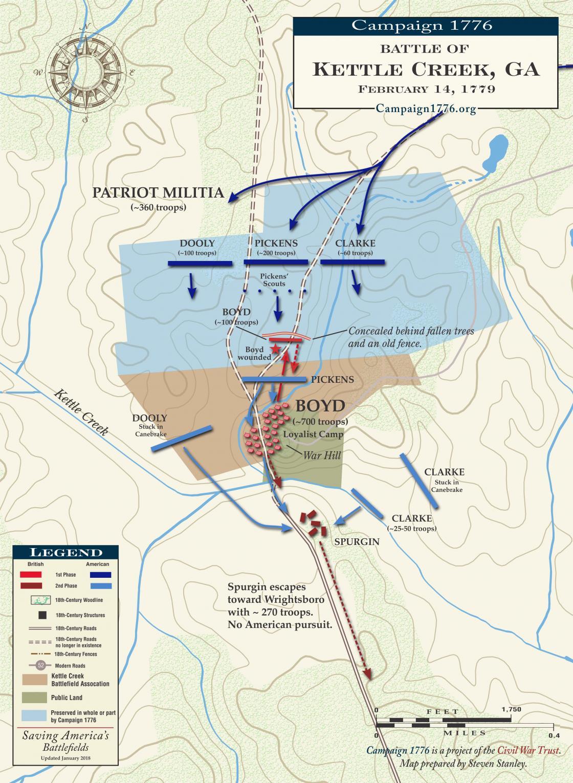 Kettle Creek - February 14th, 1779