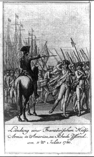 Rochambeau arrives in RI