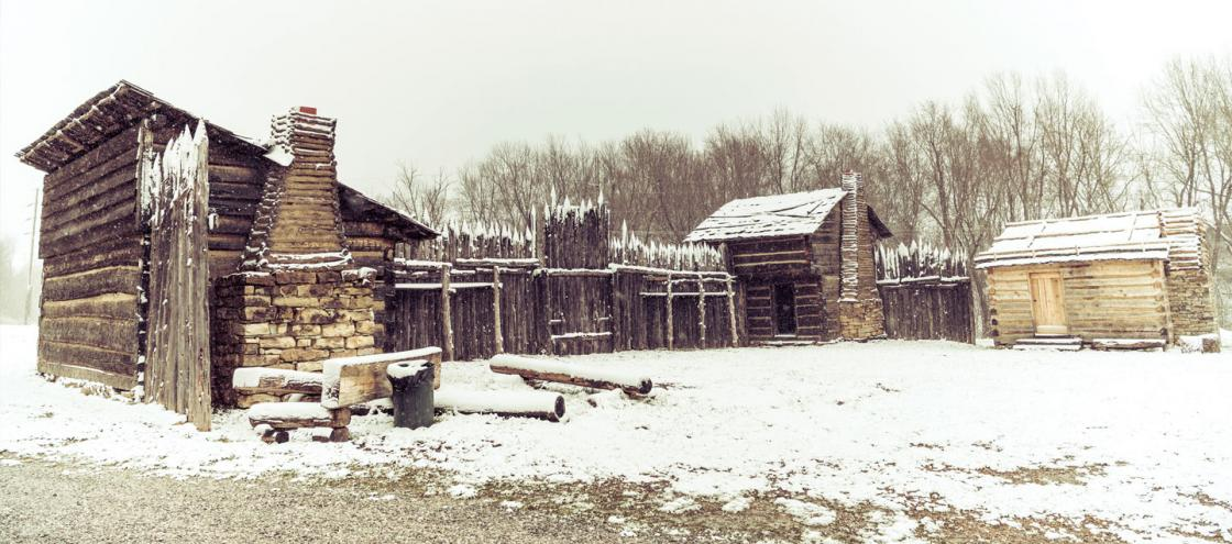 Re-creation of the fort at Logan's Station, Stanford, Ky.