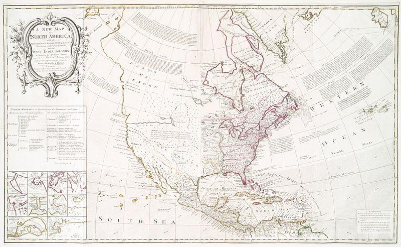Map of North America after the Treaty of Paris (1763).JPG