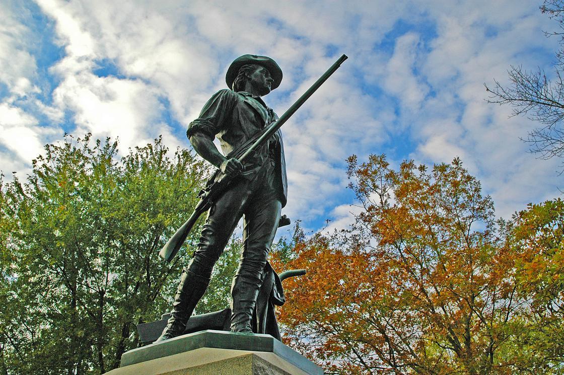 Minute Man Statue at Concord Mass North Bridge