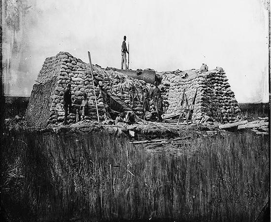 Morris Island destroyed gun battery