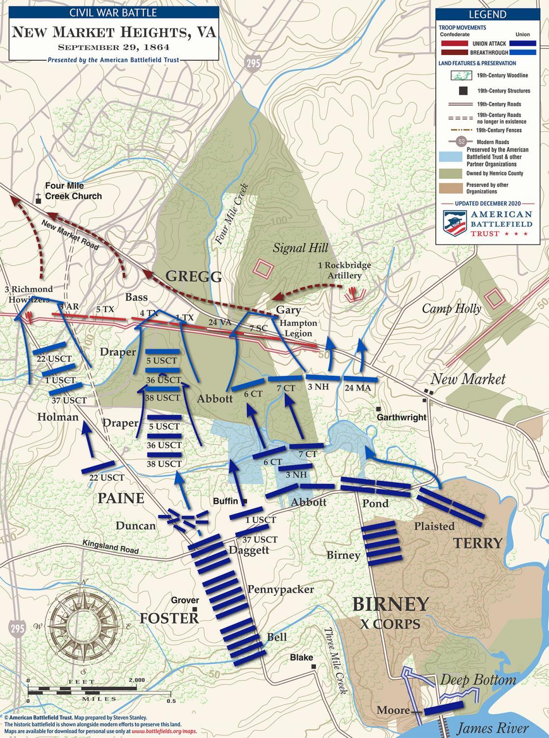 New Market Heights - September 29, 1864 Battle Map