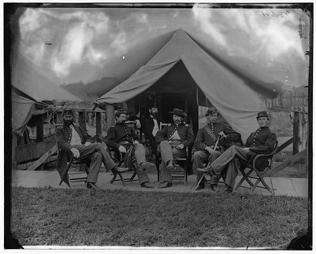 Officers 5th US Cavalry Washington DC June 1865