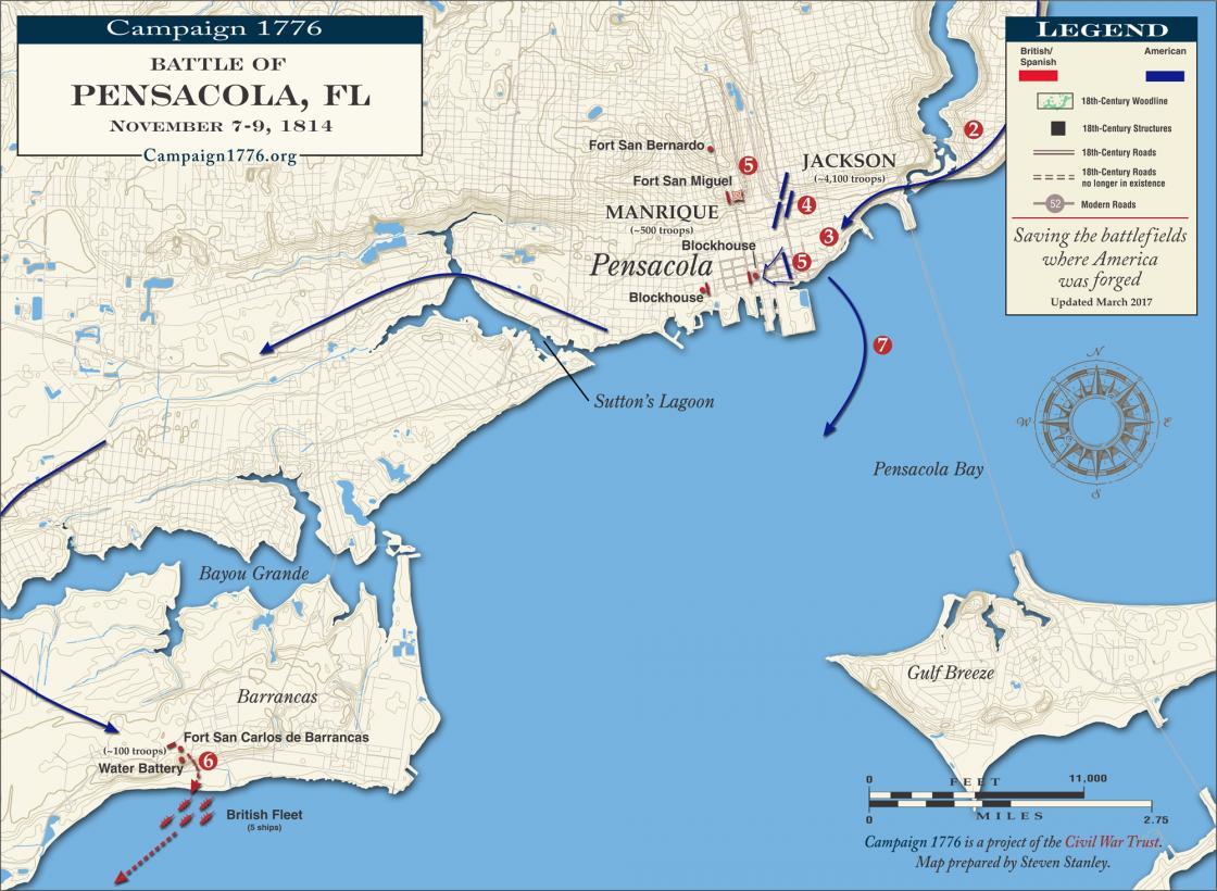 Pensacola November 7-9 1814 | American Battlefield Trust on