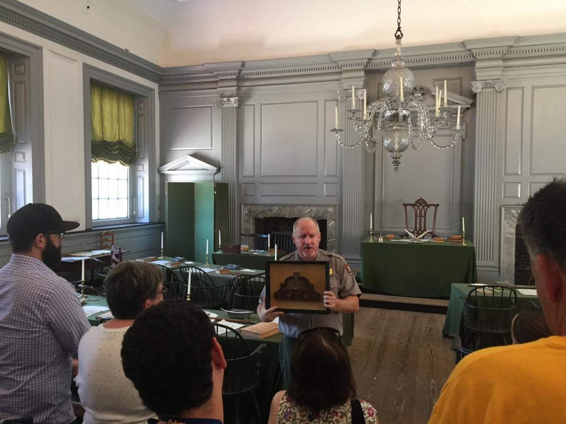 Teachers tour Independence Hall