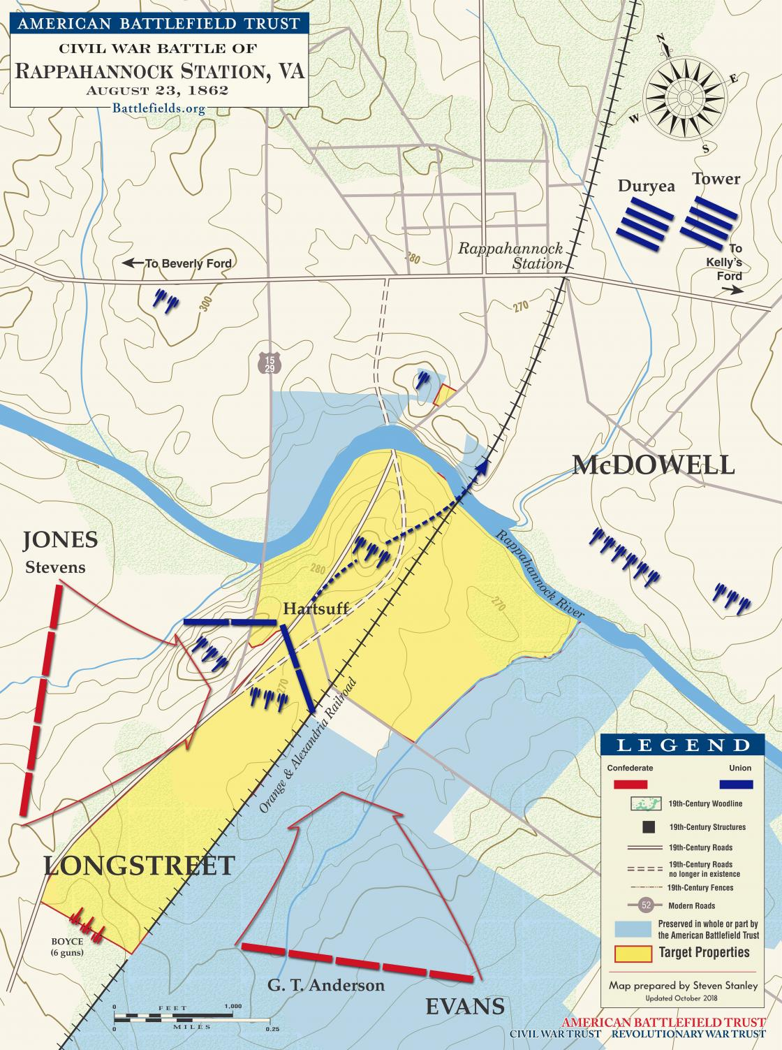 Battle of Rappahannock Station - August 22-25, 1862 ... on map of world war i battles, map of ww1 battles, map of spanish american war battles, world war 2 battles, map of japanese attack on pearl harbor, map of 13 colonies battles, map of war of 1812 battles, war of the roses battles, map of napoleonic wars, map of revolutionary war battles, map of battle of gettysburg, map of inventions, map of europe during world war 2, map of vietnam war, map of napoleon's battles, map of abraham lincoln, map of world war 1 alliances, map of peloponnesian war battles, map of korean war, map of mexican war battles,