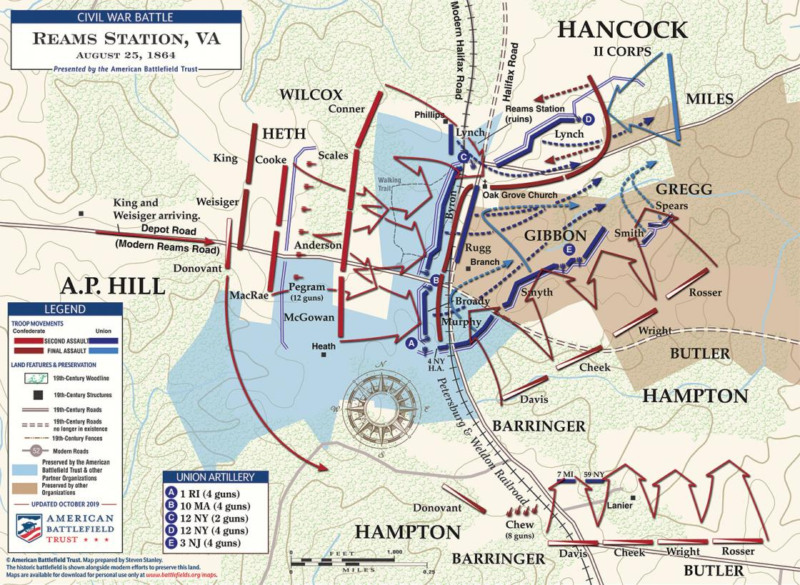 Reams Station - Second and Third Assaults - August 25, 1864 (October 2019)