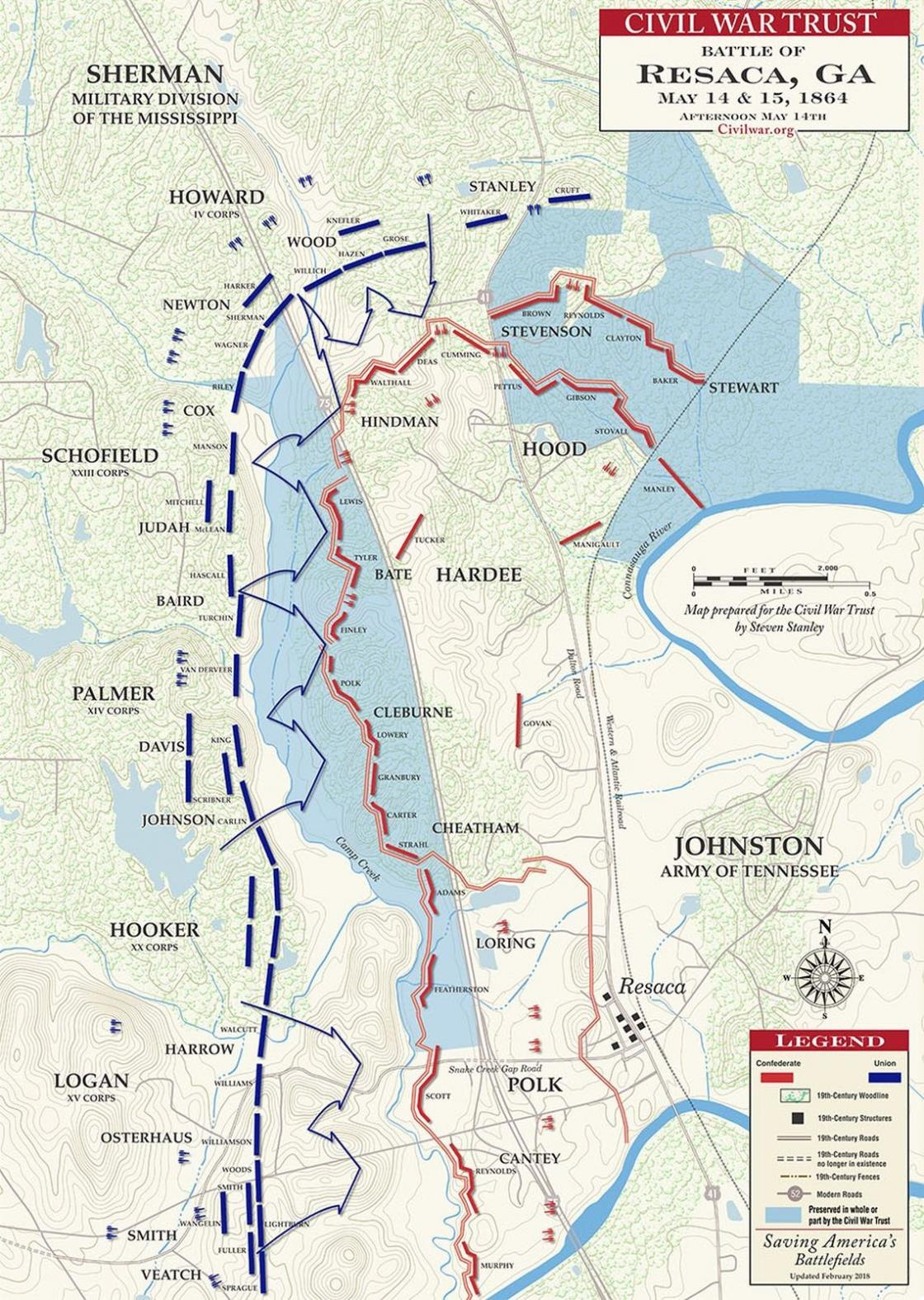 Battle of Resaca, Afternoon, May 14, 1864