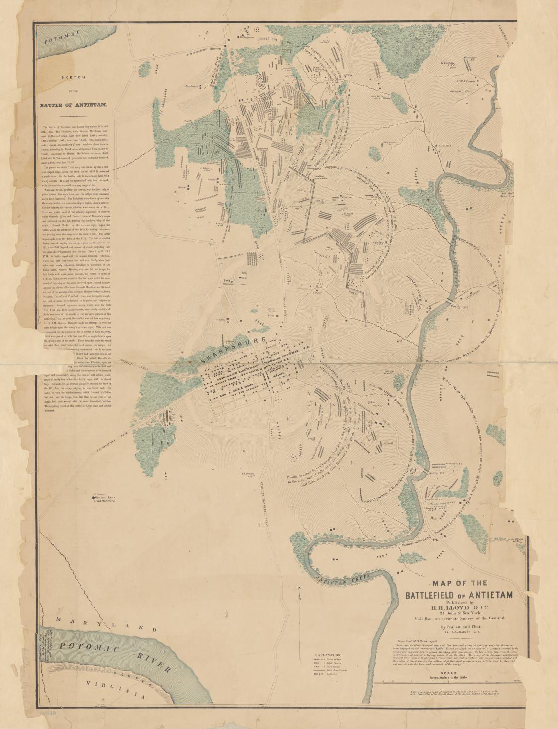 S.G. Elliot Burial Map Antietam