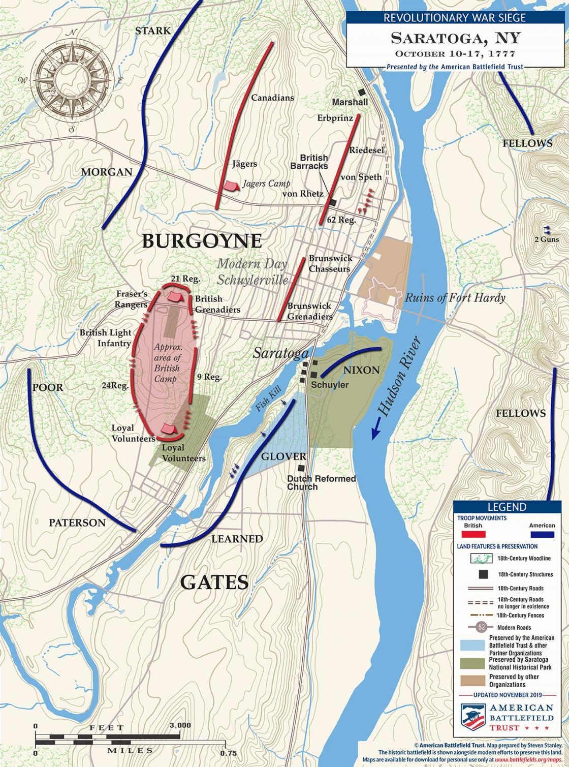 Siege of Saratoga, NY - October 10-17, 1777 (November 2019)