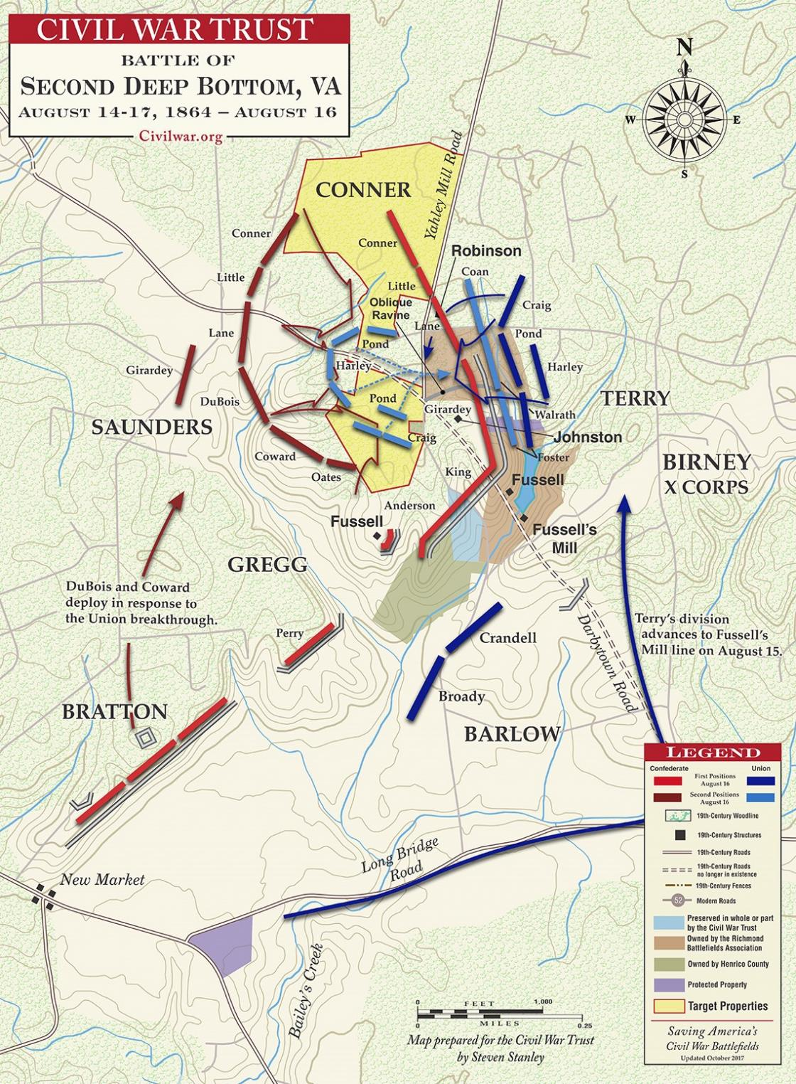 Second Deep Bottom - August 14-17, 1864 - August 16 Fighting