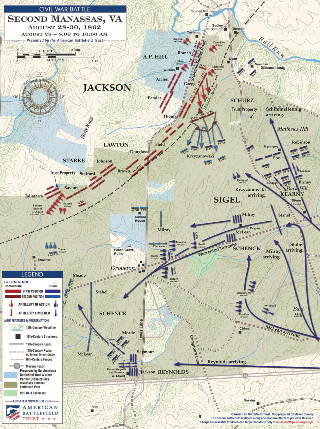 Second Manassas - The Unfinished Railroad - August 29, 1862 - 8am to 10am (November 2019)