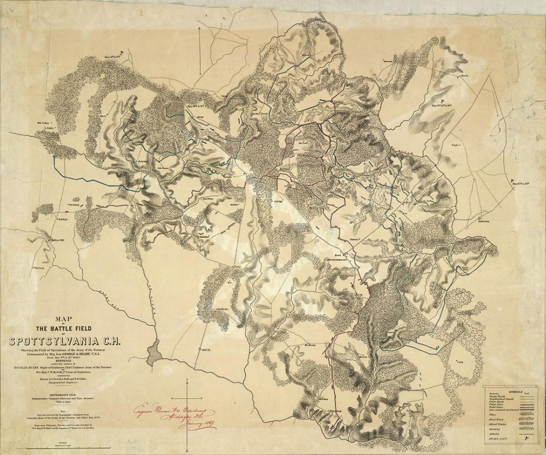 Spotsylvania Battlefield Historical Map