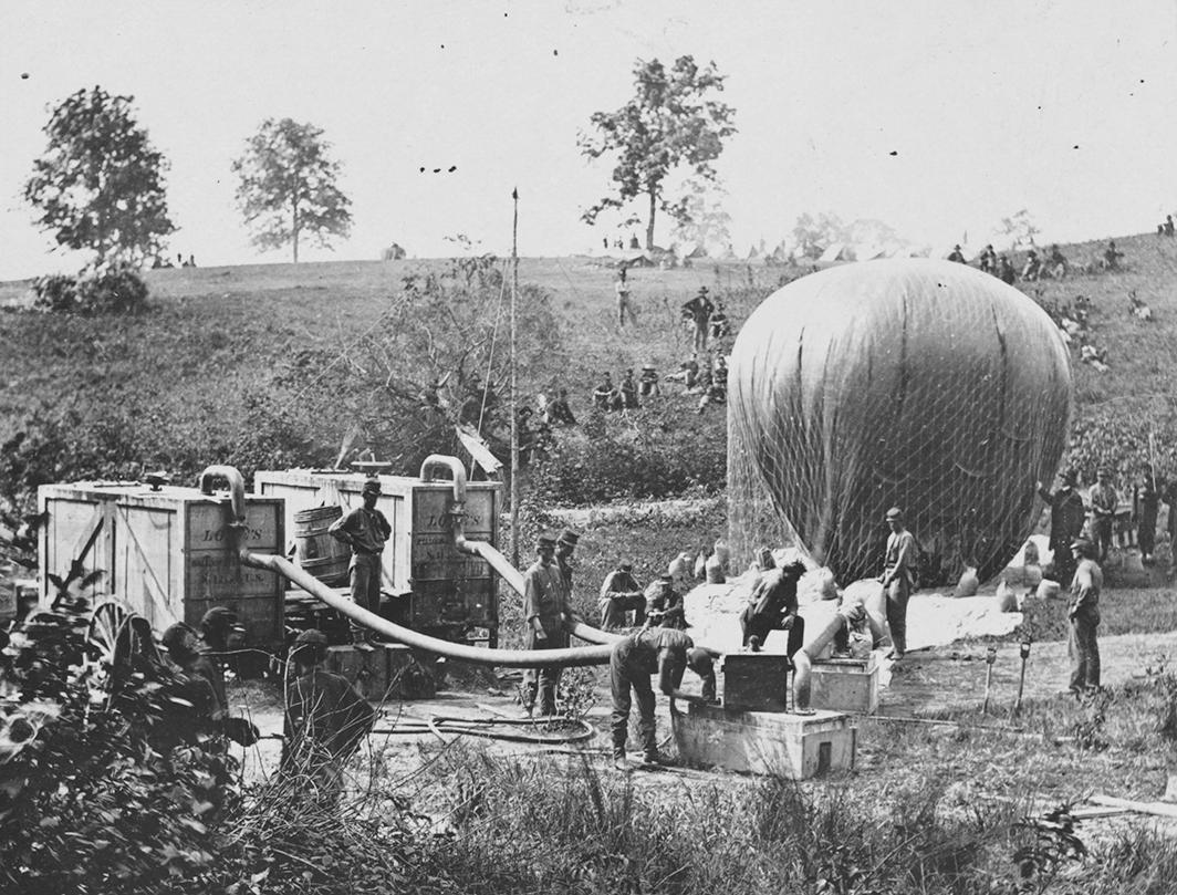 Professor Lowe's Balloon at Gaines' Mill