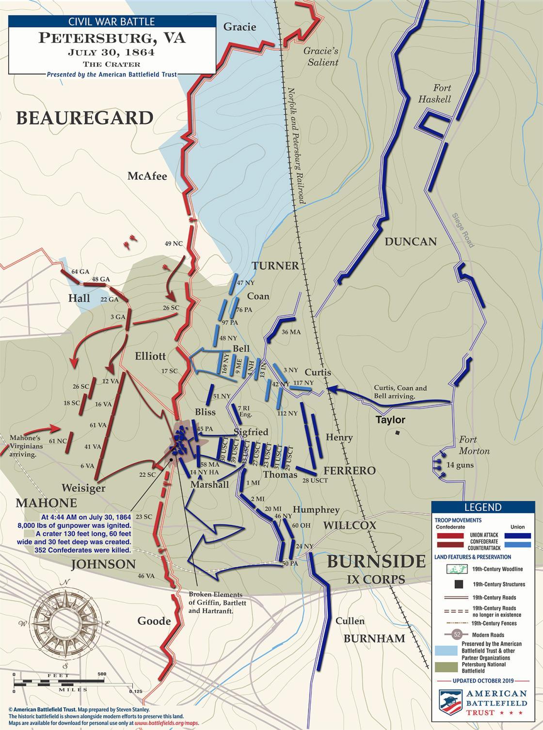 Petersburg - Battle of the Crater - July 30, 1864 (November 2019)