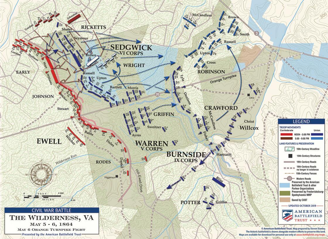 The Wilderness - Orange Turnpike Fight - May 6, 1864 (November 2019)