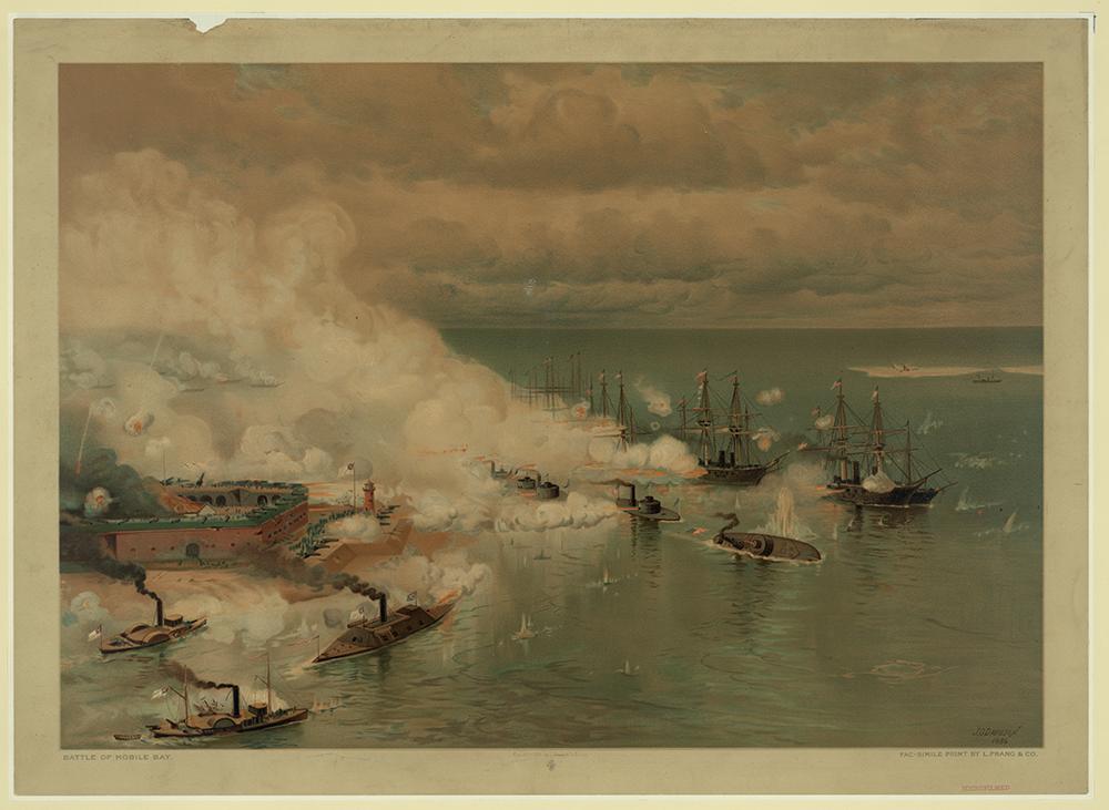 Tecumseh Strikes a Torpedo and Sinks