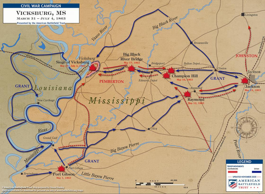 Vicksburg Campaign of 1863 - March 31 to July 4, 1863 (November 2020)