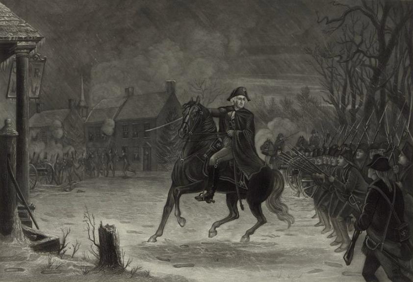 Washington at the battle of Trenton