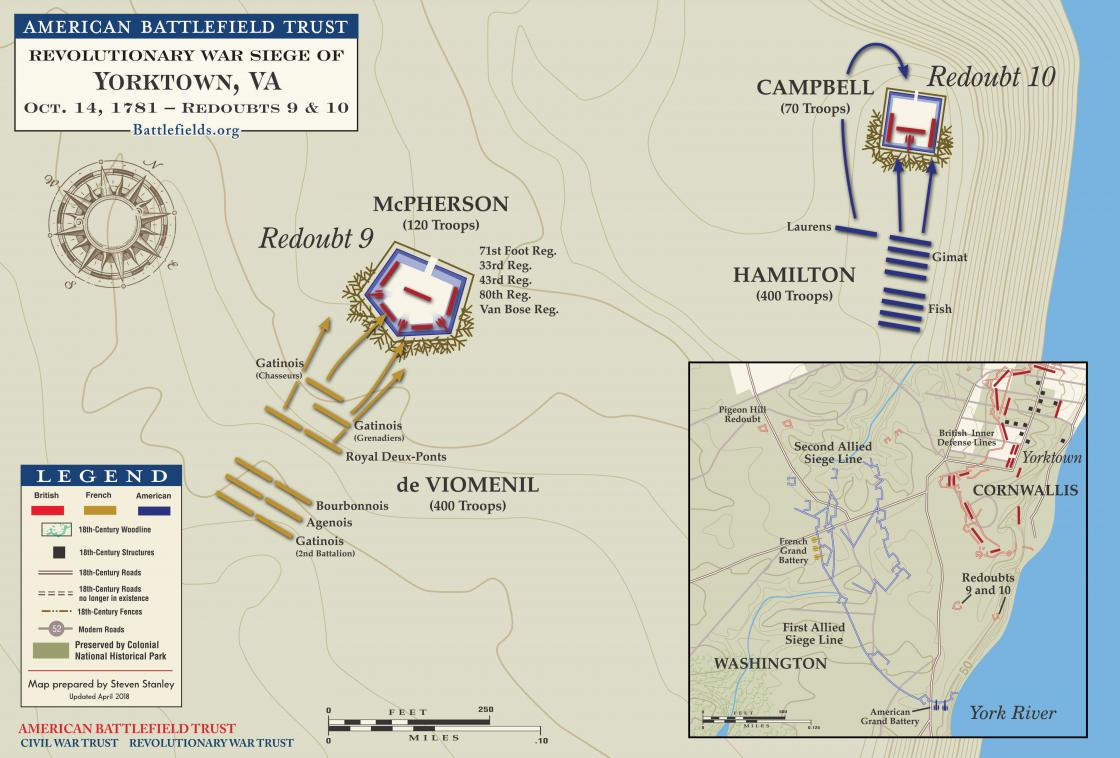 Yorktown Redoubts 9 and 10