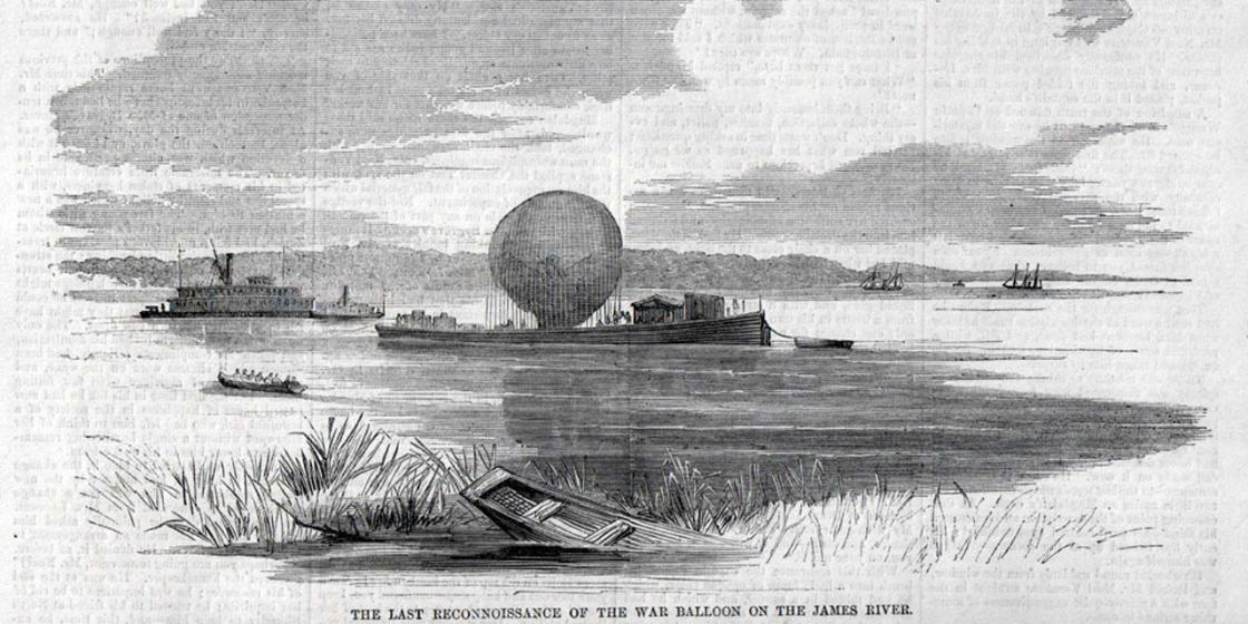 The Last Reconnaissance of the War Balloon on the James River