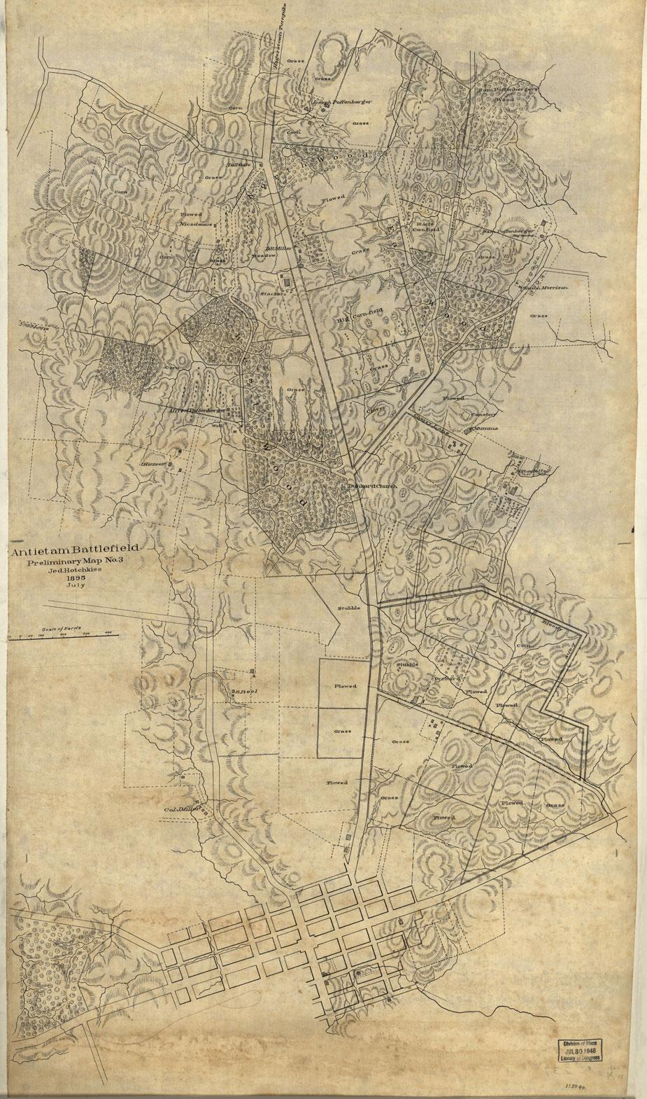 Antietam Battlefield - Preliminary map No. 3