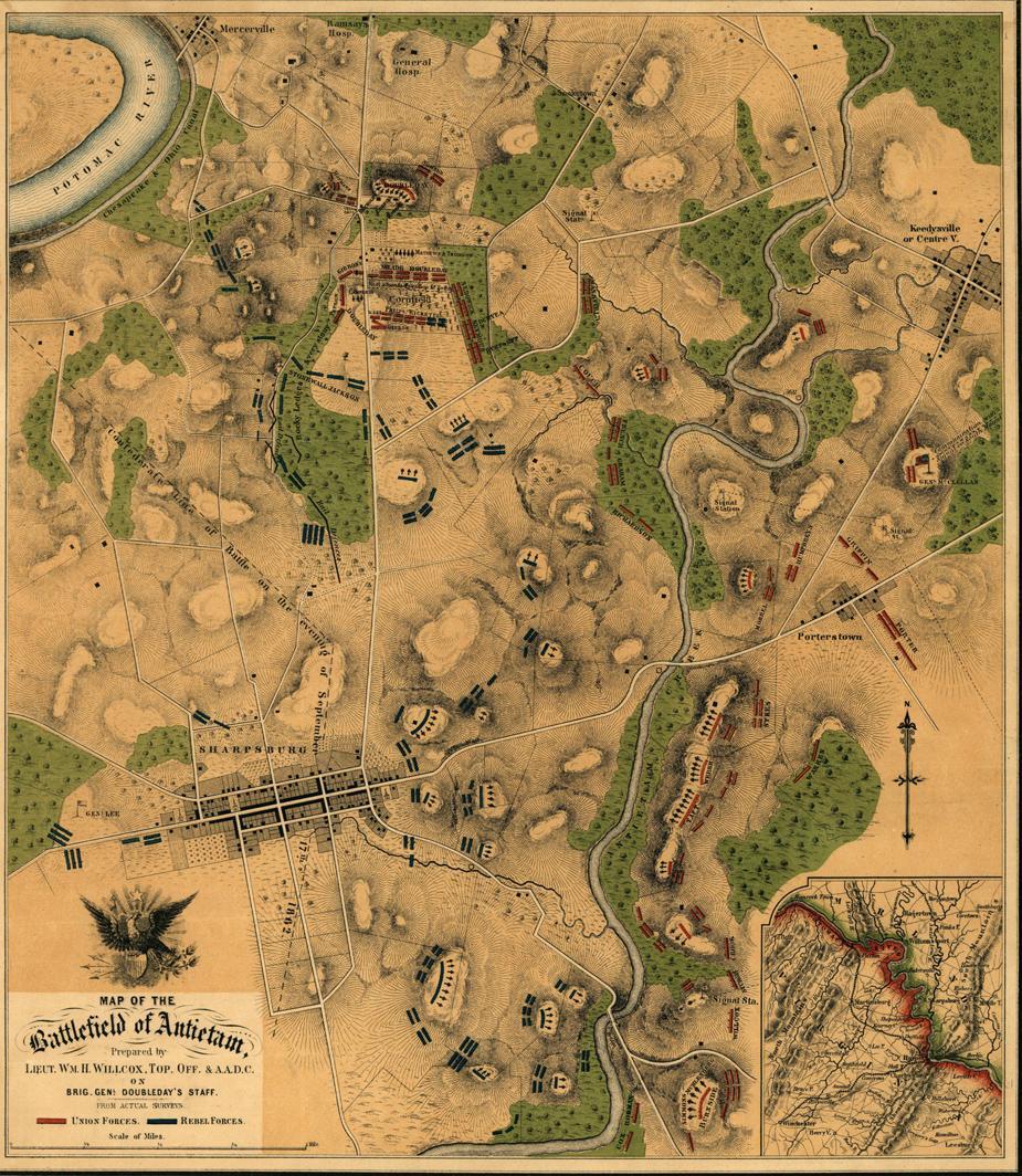 Map of the battlefield of Antietam   Civil War Trust