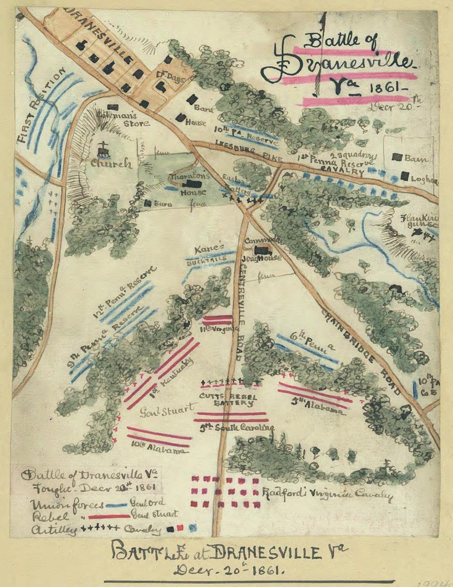 Battle At Dranesville Va Decr Th  Civil War Trust - Washington dc map civil war