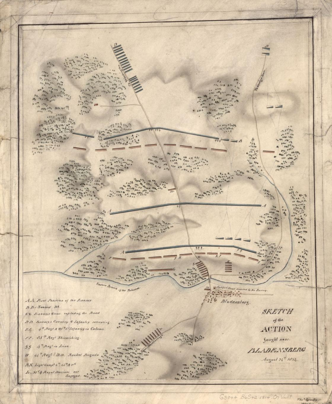 Sketch of the Action fought near Bladensburg
