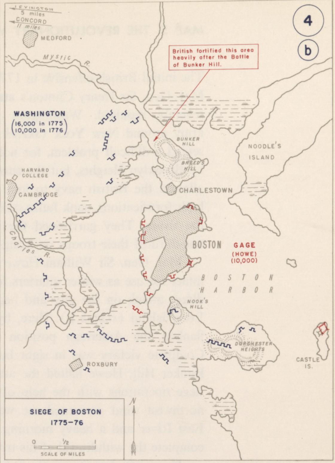 map of boston area 1776 Siege Of Boston Maps American Battlefield Trust map of boston area 1776