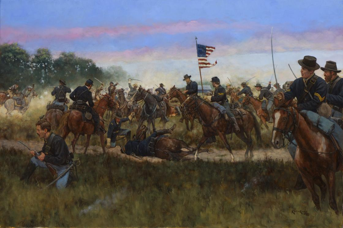 Assault on Beverly's Ford Road: Morning Attack of the 8th Illinois Cavalry at Brandy Station