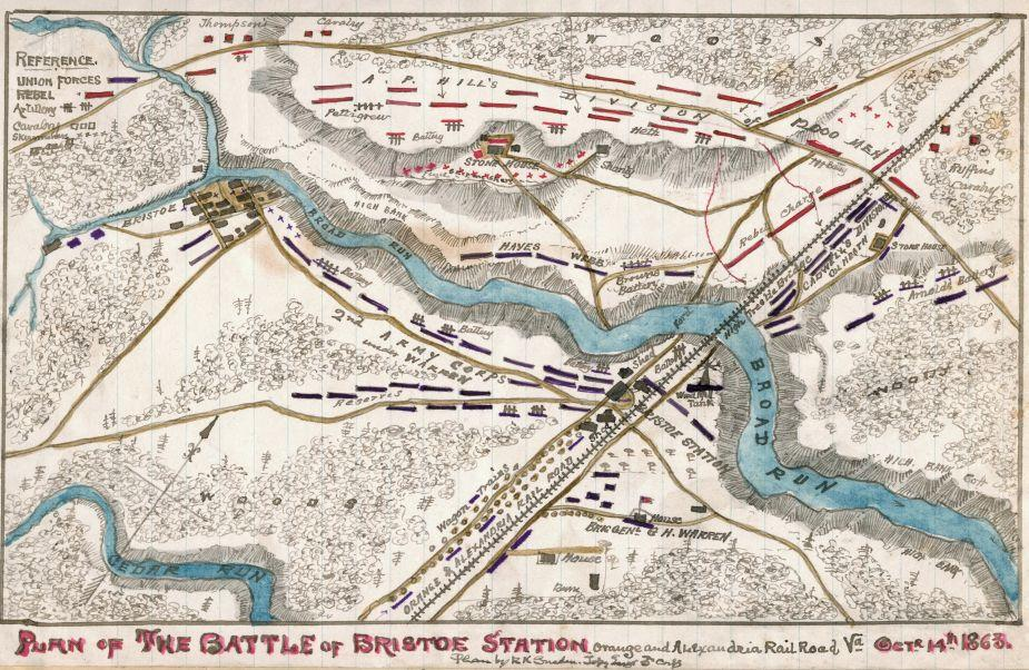 Plan of the Battle of Bristoe Station
