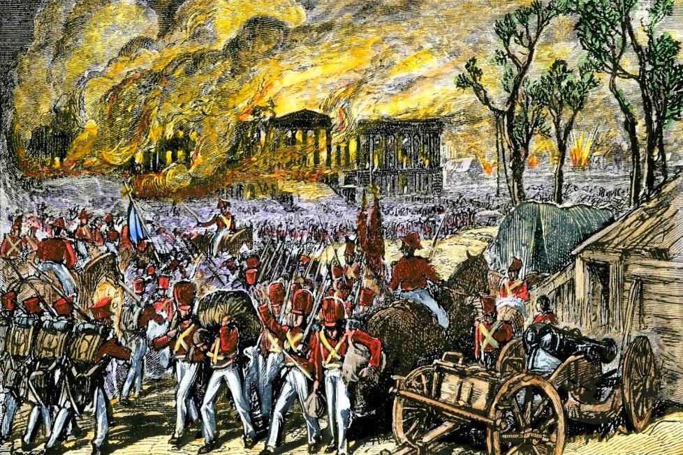 British burn DC