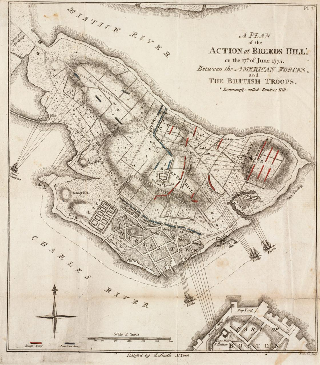 Bunker Hill - Action at Breeds Hill on June 17, 1775