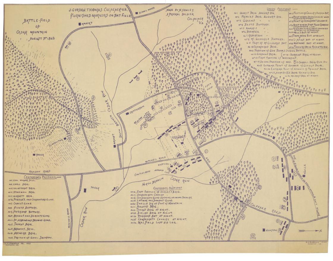 Battle-field of Cedar Mountain, August 9th, 1862