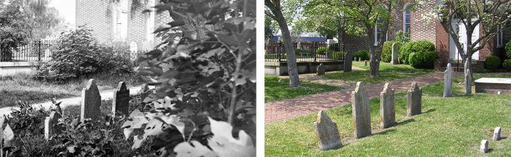 cemetery then and now