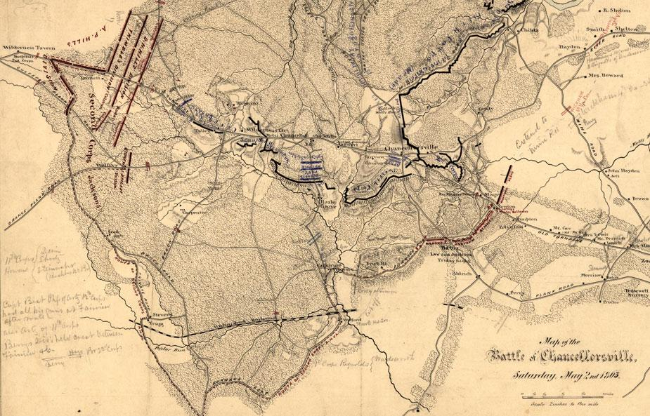 Map of the Battle of Chancellorsville, May 2, 1863