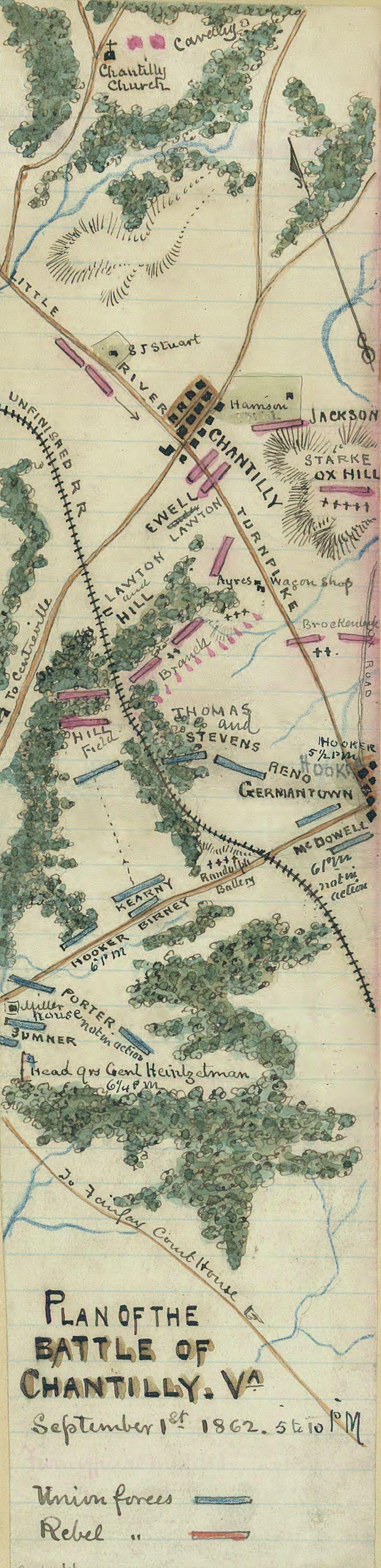 Plan of the Battle of Chantilly, Va.